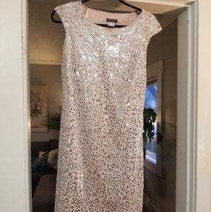 Blush sequins dress